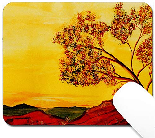 MSD Mouse Pad with Design - Non-Slip Gaming Mouse Pad - Image 11089244 Nice Image of a Small Scale Watercolor Painting on Paper