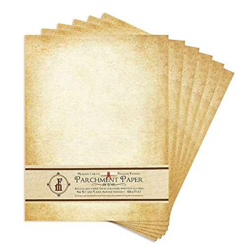 Aged-Look Parchment Stationery Paper for writing and printing- 8.5x11