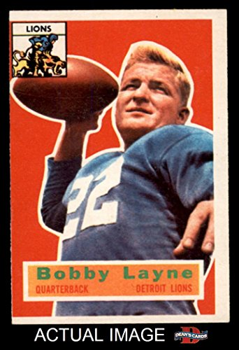 1956 Topps # 116 Bobby Layne Detroit Lions (Football Card...