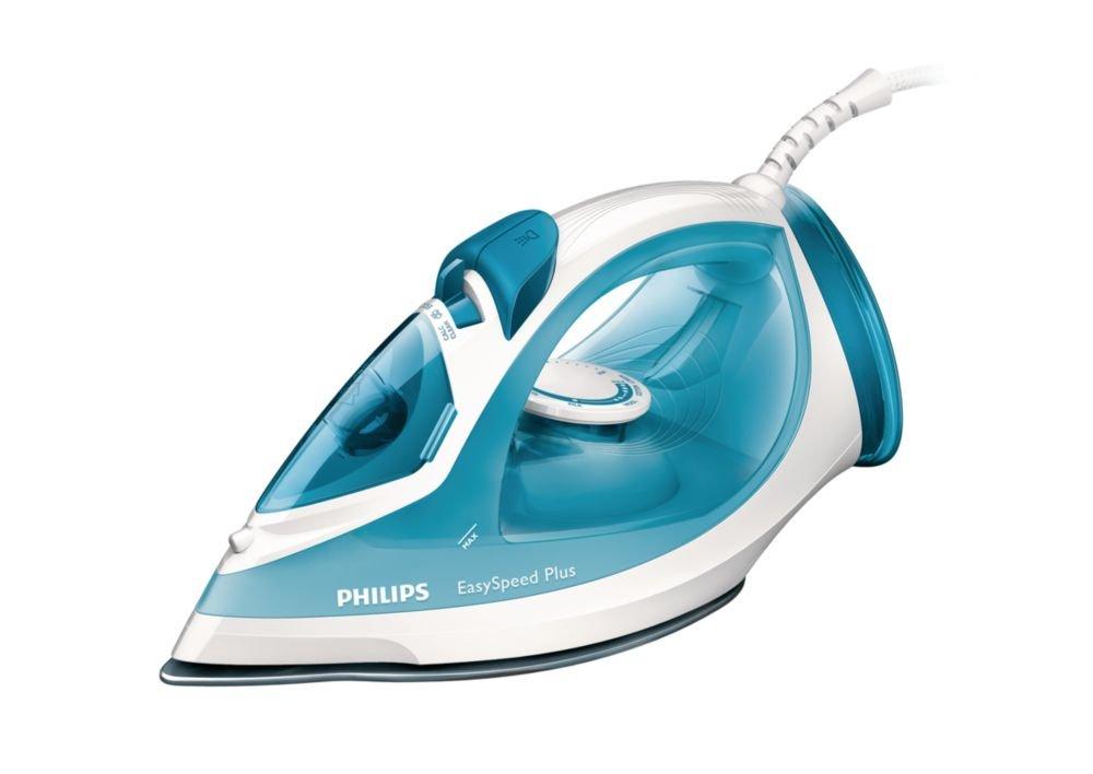 Philips GC EasySpeed Plancha de vapor con suela antiadherente W color blanco