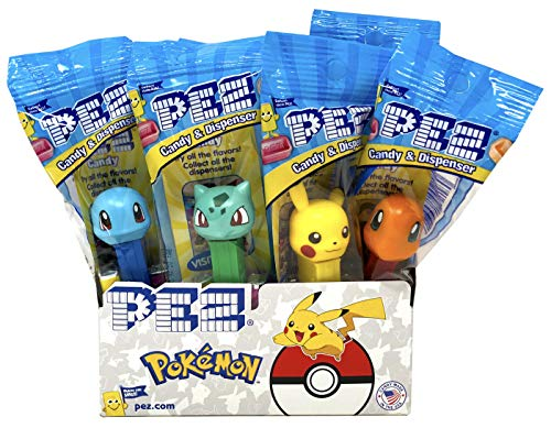 Pez Pokemon Dispensers Individually Wrapped Candy and Dispensers with Tru Inertia Kazoo (12 Pack)