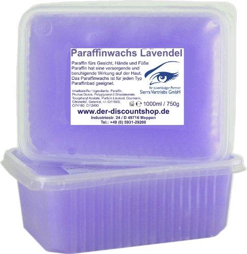 2x 1000ml Paraffinwachs Lavendel 1,5kg