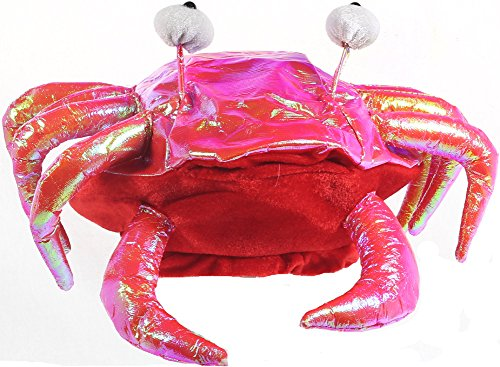 Jacobson Hat Company Men's Iridescent Crab Hat, Red, Adult