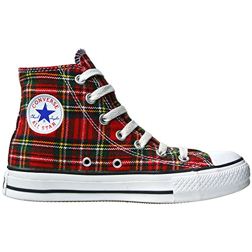 Converse All Star Schottenmuster Ska Chucks Red / Tartan HI 1Q455 Grösse 43 (UK: 9,5)