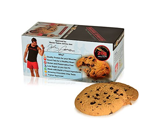 Trainer Approved's Chocolate Chip Protein Cookie, Delicious Taste & Texture, Gluten Free, 20gms of Protein!