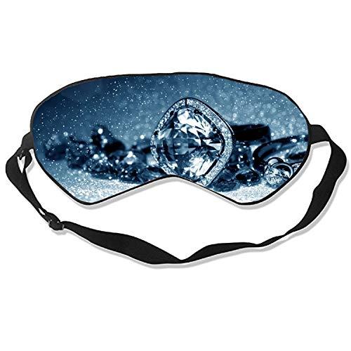 Sleep Mask, Diamond Ring Silk Lightweight Breathable Comfortable Soft Eyeshade with Adjustable Head Straps for Women ()