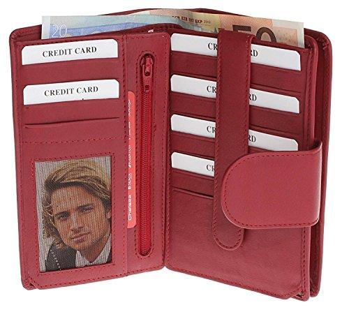 Portafoglio donna in pelle portafoglio da donna borsellino Portamonete Donne Sacchetto Portamonete, motivo XXL Borsa da donna portafoglio in pelle