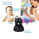 Wireless Security Camera Wifi IP HD 960P Camera Indoor Security Surveillance with Pan /Tilt Two Way Audio and Night Vision for Baby /Pet Monitor( (black)