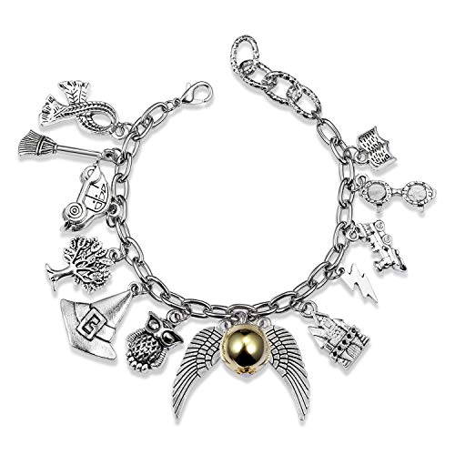 Bracelet Themed Charm Friendship Bracelets 8-Inch Silver Birthday Valentine's Day Gift with Jewelry Box For Teens Girls