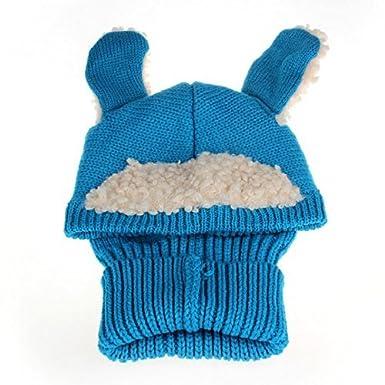 JT-Amigo - Cagoule Bonnet et écharpe Hiver - Bébé Bleu WinterHat003-Blue 3e1809ce76e