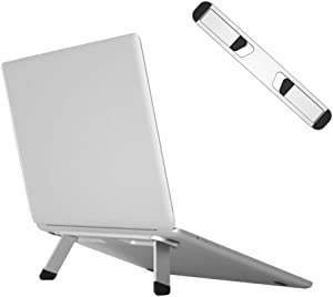 "Avankin Laptop Cooling Stand, Aluminum Portable Foldable Ergonomic Notebook Lift Holder for Desk, Table, Compatible with MacBook Air Pro, Dell XPS, HP, Lenovo and More 10-15.6"" Laptops – BS103 Silver"
