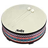Moukey  Gathering Floor Drum Wooden Drum Large Size Drum for Kids,22 inch Diameters,7 inch Height