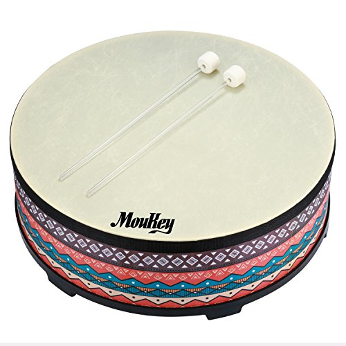 Moukey  Gathering Floor Drum Wooden Drum Large Size Drum for Kids,22 inch Diameters,7 inch Height by Moukey