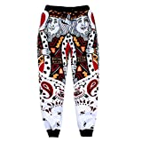 Unisex King Of Diamonds Poker Cards Sweatpants Joggers Sportswear Pants Bandana
