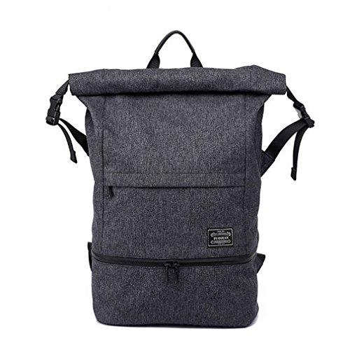 29 Wheeled Duffel Large (Men Anti-Theft Travel Backpack Gym Bag With Independent Shoes Pocket Waterproof Men Sport LapBag Rucksack HY091 Black)