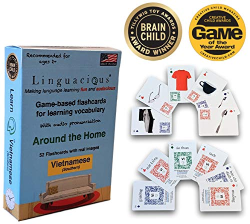 (Linguacious Learn Southern Vietnamese Around The Home Flashcard Game for Kids - with Audio!)