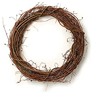 "Darice 2803-50 Grapevine Wreath 30"" 8"