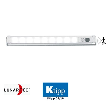 Lunartec - Tubo led con sensor de movimiento (portátil, orientable), luz blanca