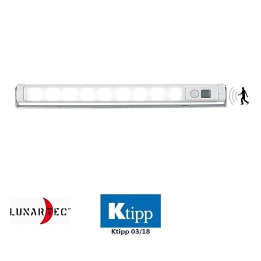 Sensore Per Accendere La Luce.Lunartec Lampada A Led Per Armadi O Da Muro Con Sensore Pir Di