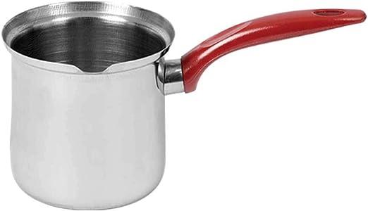 Destalya Turkish Coffee Pot Stovetop Warmer Butter Milk Frother Stainless Steel 10.5 oz 310 ml Cezve A-3