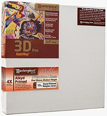 "Masterpiece Artist Canvas DY-2080 3D Pro 2-1/2"" Deep, 20"" x 80"", Linen 13.0oz - 4X - Malibu Alkyd Oil Primed"