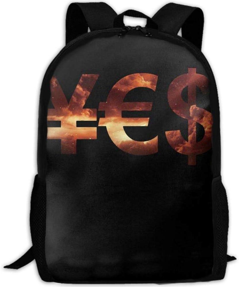 fsfsdafsaBags Galaxy Dollar Euro Yen Money Sign 3D Print Mochila de Viaje College School Laptop Bag Daypack Travel Shoulder Bag For Unisex
