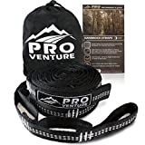 Pro Hammock Tree Hanging Straps (Set of 2) - Adjustable 30 Loops, Non-Stretch, Easy Setup, Heavy Duty, Tree Friendly