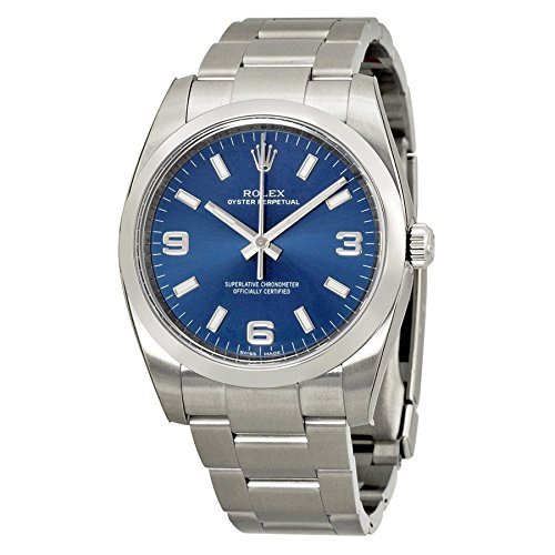 Rolex Airking Blue Arabic Dial Domed Bezel Men's Watch (Large Image)