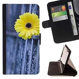 For Samsung Galaxy Core Prime / SM-G360 Case , Daisy Cerca Metáfora Significado Profundo- la tarjeta de Crédito Slots PU Funda de cuero Monedero caso cubierta de piel