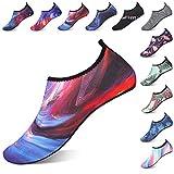 AILLOSA Water Shoes Barefoot Quick-Dry Aqua Yoga Socks Slip-on for Men Women Kids