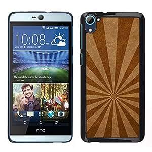LECELL--Funda protectora / Cubierta / Piel For HTC Desire D826 -- Líneas de emisión de textura --
