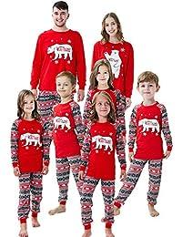 Matching Family Christmas Boys Girls Pajamas Striped/Bear Kids Sleepwear Halloween Pajamas