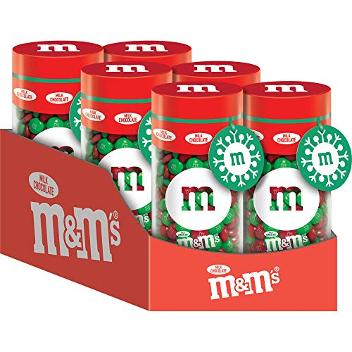 M&M'S Milk Chocolate Christmas Candy Gift 13-Ounce Jar (Pack of 6)