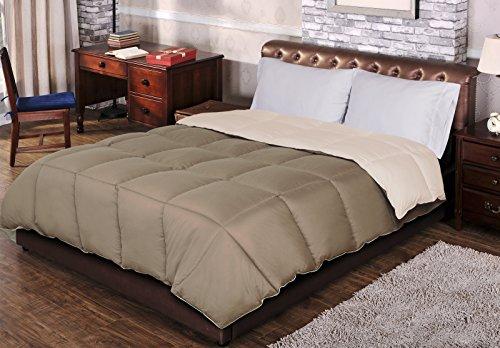 down alternative comforter taupe - 6