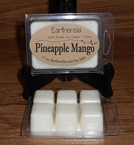 PINEAPPLE MANGO Natural Soy Wax break-apart tart melts, 2.7 oz., fruity, fruit, sweet, floral, vanilla, amber, tropical (Sweet Soy Fruit)