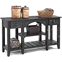 Console Table Black/52L x 16W x 30H