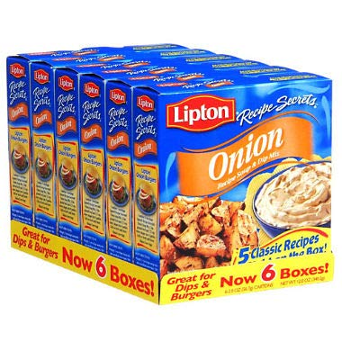Lipton Onion Recipe Soup and Dip Mix 2 oz., 6 ct. (pack of 2) A1 -