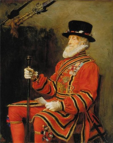 [Oil Painting 'John Everett Millais - The Yeoman Of The Guard,1876', 20 x 25 inch / 51 x 64 cm , on High Definition HD canvas prints is for Gifts And Basement, Game Room And Powder Room Decoration,] (Football Yard Marker Costume)