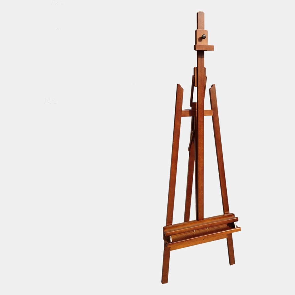 TLMYDD 子供用イーゼル170cm無垢材製アートイーゼルは、前後に複数の角度に傾けることができます。60x 90 x 175(235)cm イーゼル (Color : Reddish brown)