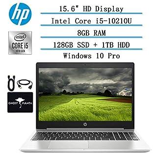 """2020 Newest HP ProBook 15.6"""" HD Laptop for Business and Student, 10th Gen Intel Quad Core i5-10210U (Beat i7-8665U), 8GB RAM, 128GB SSD, 1TB HDD, Backlit-KB, HDMI, WiFi, Win10 Pro, w/ GM Accessories"""