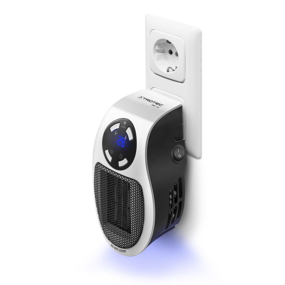 TROTEC 1410000640 Calefactor de Enchufe TFC 1 E Soplador Calefactor econ/ómico de 500 vatios con tecnolog/ía de cer/ámica t/érmicos de Enchufe para el hogar y Fuera de casa