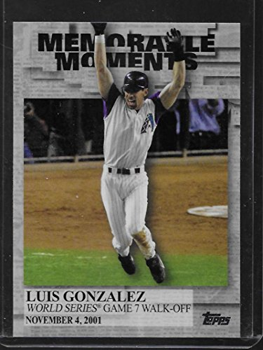 Luis Baseball Gonzalez (2017 Topps Memorable Moments #MM-21 Luis Gonzalez Diamondbacks Baseball)