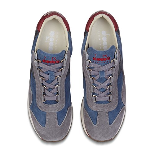 Heritage for GRAY EQUIPE Sneakers CAGE Diadora STRING S BLUE C6373 W woman HH SW dqTEP0