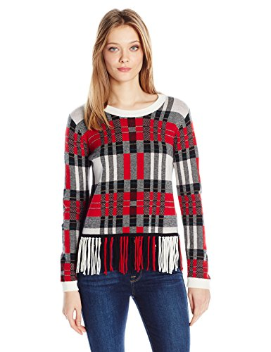 Splendid Women's Pullover, Poppy Plaid, M
