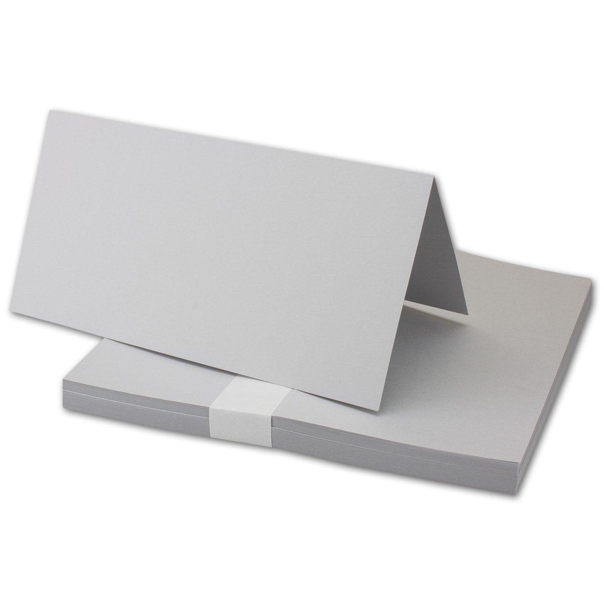 700 Faltkarten Din Lang - Hellgrau - Premium Qualität - 10,5 x 21 cm - Sehr formstabil - für Drucker Geeignet  - Qualitätsmarke  NEUSER FarbenFroh B07FKWB38M | Bevorzugtes Material