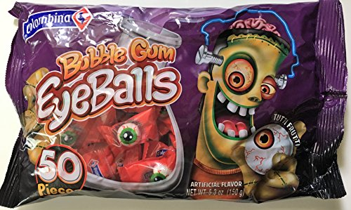 Scary Eyeballs Bubble Gum Eyeballs Individually Wrapped Gum 5.3 Ounce Bag ( Pack of 3) -