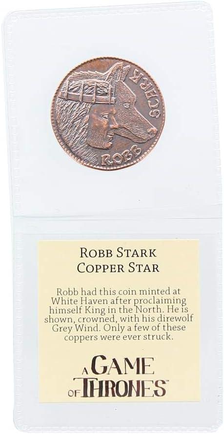 Game of Thrones Robb Stark Cooper Star Coin Replica