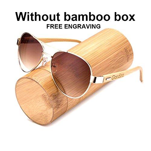 Awerise Personalized Aviator Wood Wooden Sunglasses UV400 Groomsmen Gifts (Sunglasses without box, - Chart Sunglasses Size Aviator
