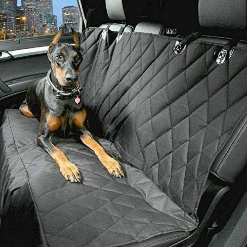 2016 ON FOR Audi Q2 Heavy Duty Black Strong Quilted Pet Dog Cat Hammock Rear Seat Cover Protector