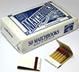 MegaDeal 50 Plain White Matches Matchbooks for Wedding Birthday Wholesale Made in America